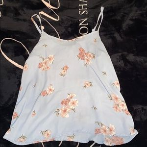 Forever 21 Blue Floral Tank! Size S!